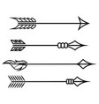 crossbow arrows set different arrow symbols vector image