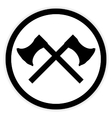 Crossed axes button vector image vector image