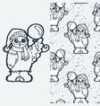 cute owlet with balloon cartoon hand drawn vector image vector image