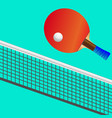 drawing of table tennis vector image vector image