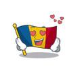 falling in love cute flag chad scroll cartoon vector image vector image