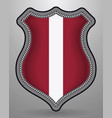 flag of latvia badge and icon vector image