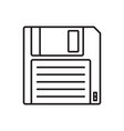 floppy disk linear icon hd diskette old data media vector image vector image