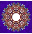 floral round pattern in violet colour ukrainian vector image vector image
