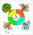 four seasons for design of a calendar vector image