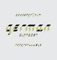 german font alphabet vector image vector image
