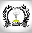 golf sport ball emblem icon vector image vector image