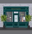 graphic facade vintage boutique detailed vector image