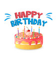 happy birthday big cake background image vector image vector image