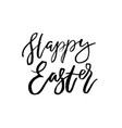 happy easter card with calligraphy text template vector image