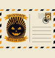 happy halloween postcard invitation template with vector image vector image