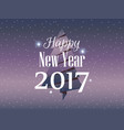 happy new year 2017 christmas card with paper fir vector image