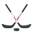 hockey stick icon equipment and sport activity vector image