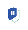home protection security logo design house with vector image vector image