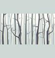 horizontal cartoon autumn forest vector image