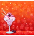 Ice Cream Cherry Berry and Abstract Background vector image vector image