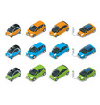 isometric hybrid electric and mini cars city vector image