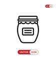 jam icon vector image