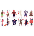 kids in halloween costumes boys and girls wearing vector image