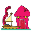 Kraken cartoon vector image vector image