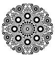mandala black and white art australian vector image