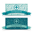 medicine banners set vector image vector image
