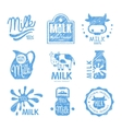 Milk and Dairy Labels vector image
