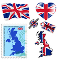 national colours of United Kingdom vector image vector image