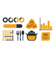 nutrition and food infographic icons vector image vector image