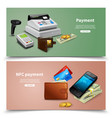payment realistic horizontal banners vector image vector image