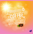 premium coffee background with beans image vector image vector image