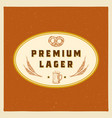 premium lager abstract beer sign symbol or vector image vector image