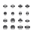 printer icon set vector image vector image