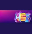 progressive web app concept banner header vector image vector image
