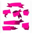 ribbon pinjk vector image vector image