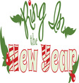 Ring In New Year vector image vector image