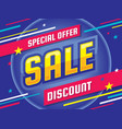 sale - banner template concept vector image vector image