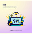 seo concept with people character for banner vector image