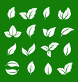 set abstract natural green leaf icons vector image