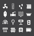 set icons heating vector image