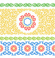 set of ornament typical for asian vector image