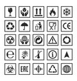 set of packaging symbols vector image vector image