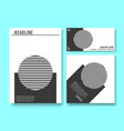 set of printed products templates minimal vector image vector image