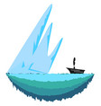 sharp iceberg or color vector image