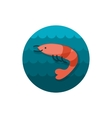 Shrimp icon Prawn Summer Vacation vector image vector image