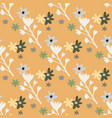 simple seamless doodle pattern with white and vector image vector image