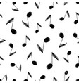 sketch music notes pattern vector image vector image