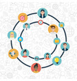 social network media flat design vector image vector image
