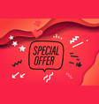 special offer banner design template vector image vector image