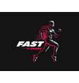 sport sporty and athletic man vector image vector image